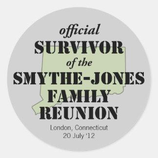 Official Family Reunion Survivor - Connecticut Stickers