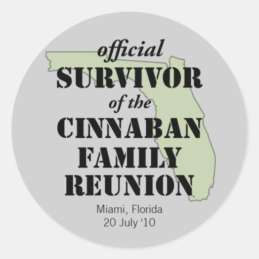 Official Family Reunion Survivor - Florida Green Sticker