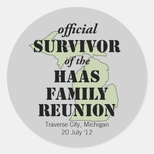 Official Family Reunion Survivor - Michigan Green Sticker