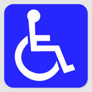 Official International symbol of access Square Sticker