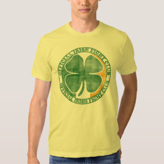 Official Irish Fight Club St Patrick's Day T Shirts