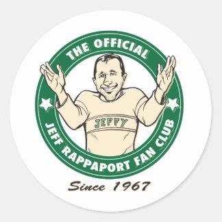 Official Jeff Rappaport Fan Club Stickers