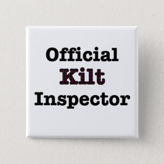 Official Kilt Inspector 15 Cm Square Badge