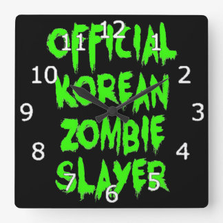 Official Korean Zombie Slayer Square Wall Clock