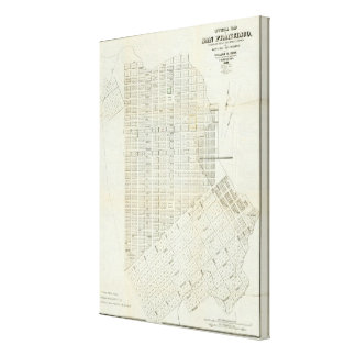 Official Map of San Francisco Canvas Prints