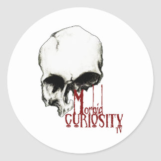 Official Morbid Curiosity TV Products Classic Round Sticker