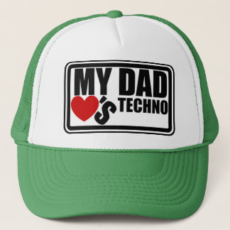 """Official """"My Dad Loves Techno"""" Trucker Hat"""