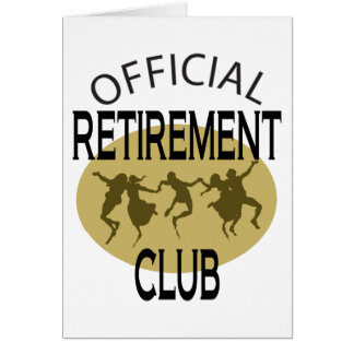 Official Retirement Club Card