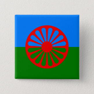 Official Romany gypsy flag 15 Cm Square Badge
