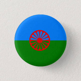 Official Romany gypsy flag 3 Cm Round Badge