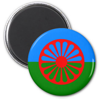 Official Romany gypsy flag 6 Cm Round Magnet