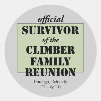 Official Survivor (green) Round Sticker