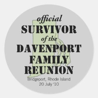 Official Survivor (green) Stickers