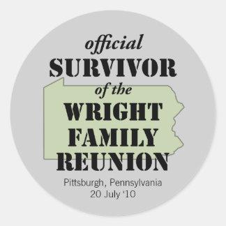 Official Survivor (green) Round Stickers