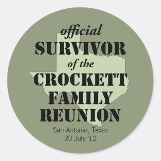 Official Survivor of Texas Family Reunion Sticker