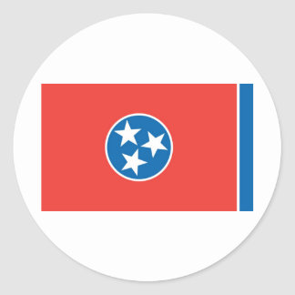 Official Tennessee State Flag Round Sticker