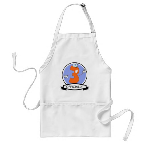 Officially 3 Birthday Banner Apron