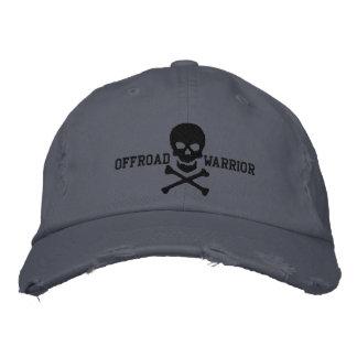 Offroad Warrior Large Skull Crossbones Embroidered Hats