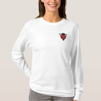 ofm emb file embroidered long sleeve T-Shirt