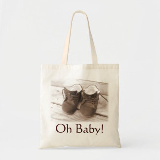 Oh Baby! Gift Tote Brown Accent