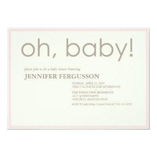 oh baby! custom invite