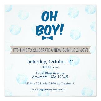 Oh Boy! Baby Shower Invitation