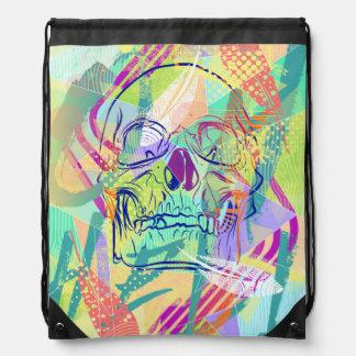 Oh Hell Sherbert Skull Drawstring Backpack