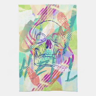 Oh Hell Sherbert Skull Kitchen Towels