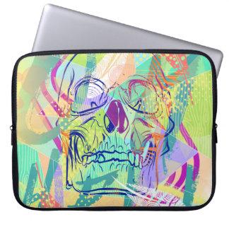 Oh Hell Sherbert Skull Laptop Sleeve
