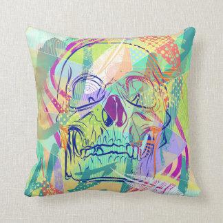 Oh Hell Sherbert Skull Pillow