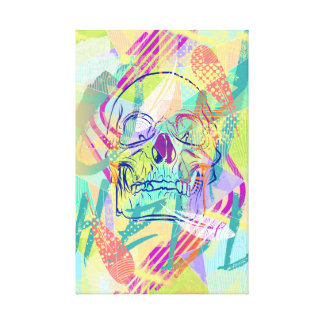 Oh Hell Sherbert Skull Wrapped Canvas