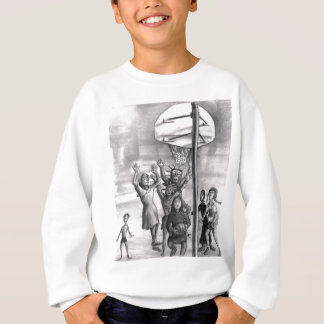Oh, holy one. Religious playing basketball. Sweatshirt