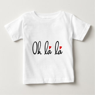 Oh la la, French word art with red hearts Baby T-Shirt