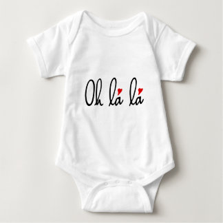 Oh la la, French word art with red hearts Tees