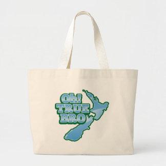 Oh TRUE BRo! kiwi map Large Tote Bag