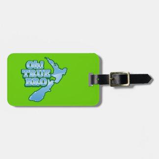 Oh TRUE BRo! kiwi map Luggage Tag