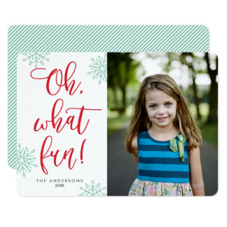 Oh What Fun! Calligraphy | Holiday Photo Cards
