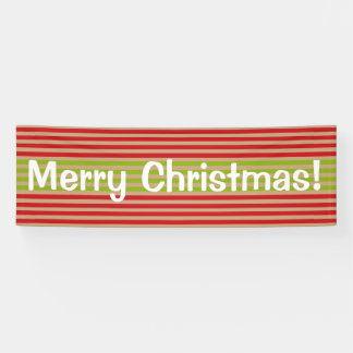 Oh What Fun! Christmas stripes custom banner
