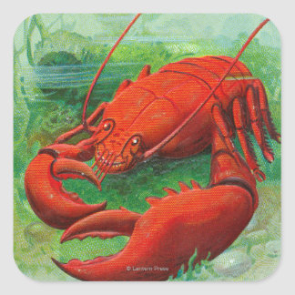 Oh You Lobster Scene Square Sticker