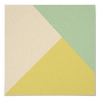 OHBABY GEOMETRIC LIGHT GREEN YELLOW PINKISH NEUTRA POSTER