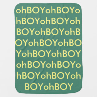 OhBoy green/yellow baby swaddle blanket <3 Swaddle Blankets