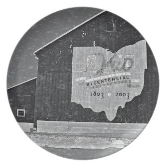 Ohio Barn In Winter Party Plates