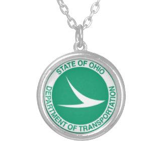 Ohio Department of Transportation Necklace. Round Pendant Necklace