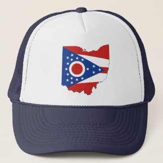 Ohio State Flag and Map Trucker Hat