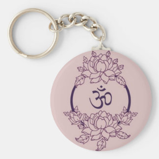 Ohm Flower Circle Key Ring