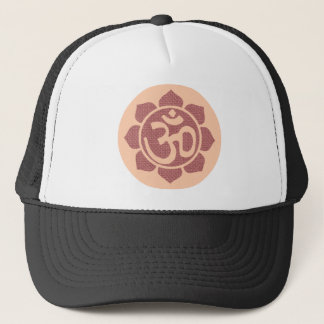 ohm lotus symbol trucker hat