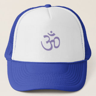 OHM, OM Namaste Yoga, Lotus Purple Trucker Hat