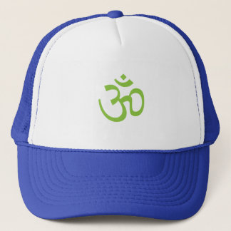 OHM, OM Namaste Yoga, Spring Green Trucker Hat