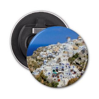 Oia village on Santorini island, north, Greece Bottle Opener