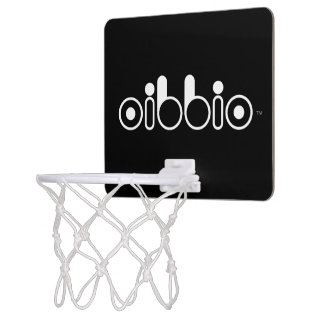 Oibbio Logo (Blackout) Mini Basketball Hoop